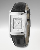 Emporio Armani Men's Vintage-Inspired Black Leather Watch