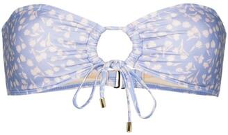 Peony Swimwear Bandeau Floral-Print Bikini Top