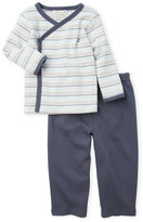miniclasix (Newborn/Infant Boys) Two-Piece Stripe Knit Top & Pants Set