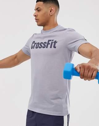 Reebok Crossfit logo t-shirt in blue