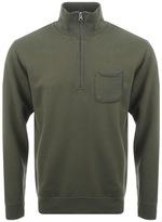 Edwin Warm Up Popover Sweatshirt Green