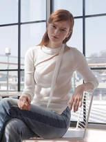 Wardrobe Diagonal Off-shoulder Knit_ivory