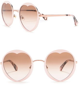 Kate Spade Rosarias 53mm Heart Sunglasses