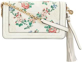Tory Burch Floral-Print Leather Crossbody Bag