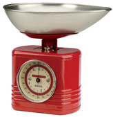 Typhoon Vintage Kitchen Scales 28x26x22.5cm - Red