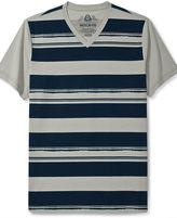 American Rag T-Shirt, Panel Stripe Short Sleeve T-Shirt