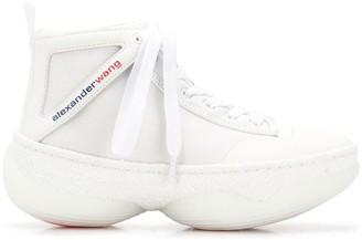Alexander Wang Lace Up Hi-Top Sneakers