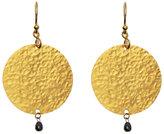 Gurhan 24K Gold Round Diamond Earrings