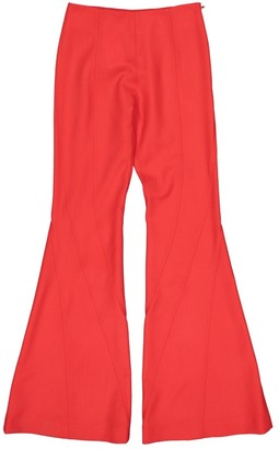 Thierry Mugler \N Red Wool Trousers for Women