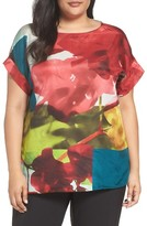 Lafayette 148 New York Plus Size Women's Lori Print Silk Blouse