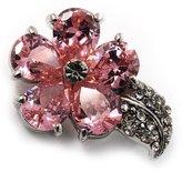 Avalaya Tiny CZ Flower Pin Brooch
