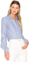 Suno Ruffle Sleeve Button Down Shirt