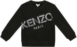Kenzo Kids Logo stretch-jersey sweatshirt