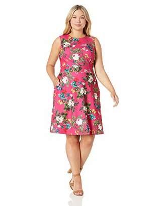 Calvin Klein Women's Plus Size Sleeveless Dress with Seamed Waistline and Pockets