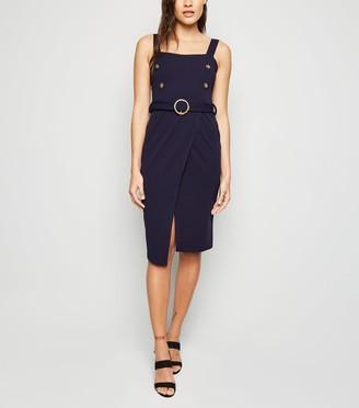 New Look Mela Button Bodycon Dress