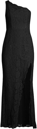 Fame & Partners The Selma One-Shouldered Lace Gown