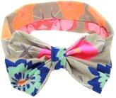 Susenstone Baby Printing Bowknot Rabbit Ears Elastic Cloth Headband