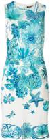 Roberto Cavalli fitted sea creature dress