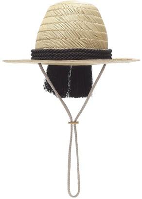 Gucci Embellished straw hat