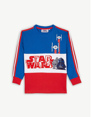Star Wars Fabric flavours colour-block cotton jumper 3-10 years