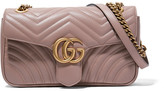 Gucci Gg Marmont 2.0 Small Quilted Leather Shoulder Bag - Sand