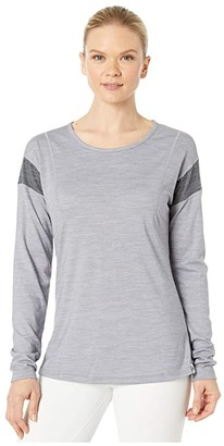 Smartwool Merino Sport 150 Long Sleeve (Light Gray Heather) Women's Clothing