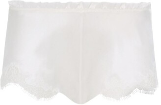 Carine Gilson Silk Lace Trim Shorts