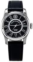 Revue Thommen Millennium - Classic Women's Automatic Watch with Black Dial Analogue Display and Black Leather Strap 104.01.02