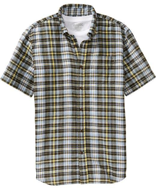 Old Navy Men's Slim-Fit Linen-Blend Shirts