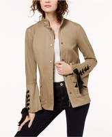 INC International Concepts I.N.C. Lace-Up Utility Jacket, Created for Macy's