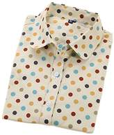 Bobbycool Polka Dot Cotton Women Blouses Long Sleeve Shirts