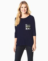 Charming charlie Sequined Pocket Tee