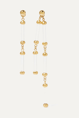 1064 Studio - Colors Of Shadow Gold-plated And Acrylic Earrings