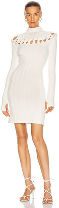 Dion Lee Braid Skivvy Mini Dress in Ivory | FWRD