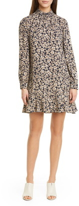 Rebecca Taylor Giselle Floral Long Sleeve Shift Minidress