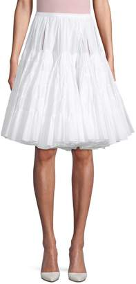 Alaia Flared Cotton Knee-Length Skirt