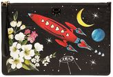 Dolce & Gabbana Medium Space Printed Leather Pouch