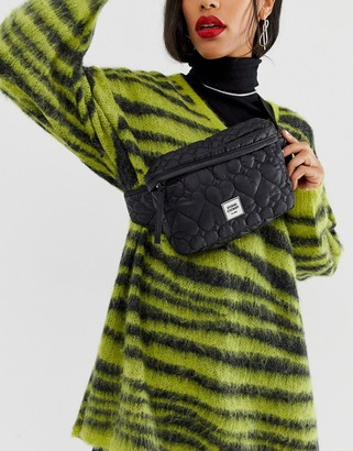 Opening Ceremony quilted bum bag-Black