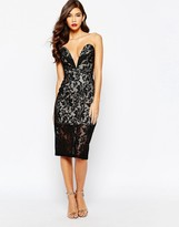 Jarlo Astrid All Over Lace Bandeau Dress