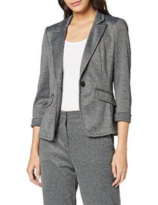 S'Oliver BLACK LABEL Women's 11.9.54.4328 Suit Jacket, (Grey/Black Check 99N1), UK