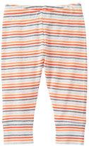 Orange & Gray Stripe Leggings - Newborn