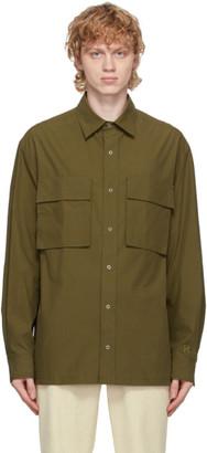 Kenzo Khaki Poplin Shirt