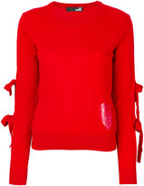 Love Moschino bow jumper