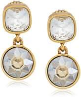 Badgley Mischka Double Champagne Stone Drop Earrings