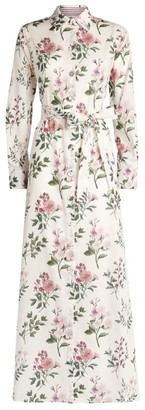 Evi Grintela Belted Floral Shirt Dress