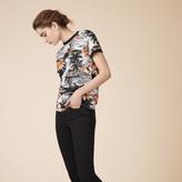 Maje Printed linen T-shirt
