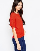 See by Chloe Top With Lace Up Sleeves