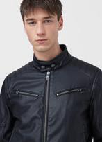 MANGO MAN Zipped Biker Jacket