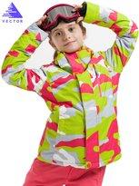 Vector Windproof Waterproof Warm Snowboard Hooded Coat Children Ski Jacket M