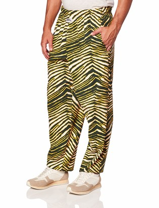 Zubaz Men's Classic Zebra Printed Athletic Lounge Pants
